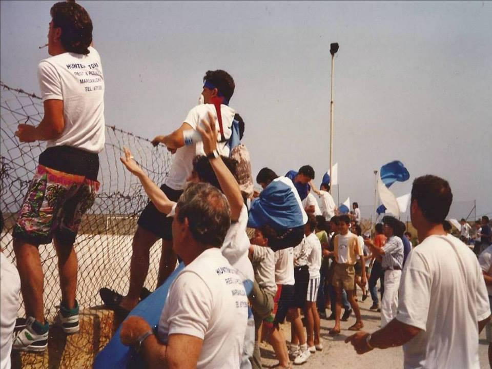 Supporters at the Schreiber Stadium
