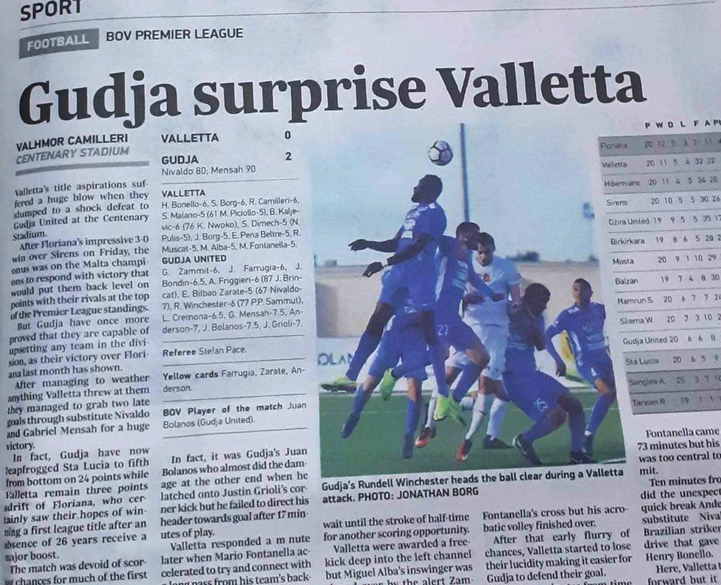 Gudja 2-0 Valletta - Season 19-20